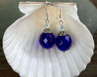 Cobalt Blue Ocean Earrings