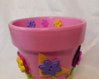 Pink flower pot etsy pink flower pot mightylinksfo