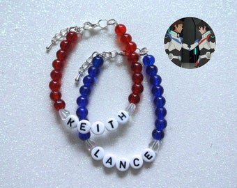 Keith & Lance OTP Bracelet Set - Voltron Legendary Defender Klance Netflix Series