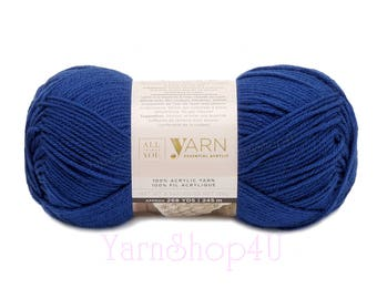 ROYAL. All Things You Essential Acrylic Yarn. Big 4.5oz Ball. Solid Royal Blue. Solid Blue Worsted. Same as Michaels Impeccable Royal Blue <
