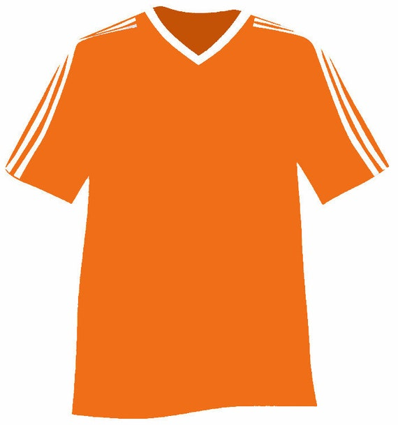 Orange Sports Jersey Birthday - Edible Cake and Cupcake Topper For Birthday's and Parties! - D24000