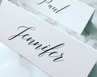 10x Personalised Wedding Table Place Cards