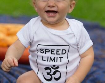 Speed Limit Om®  Baby Onesie