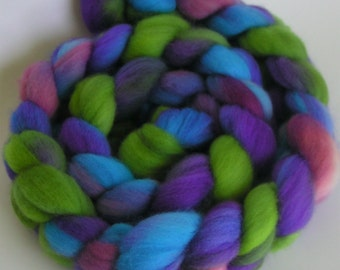 Fiber Merino Wool BELIZE Fine Top Roving Hand Painted Spin Felt Craft 4 ounces