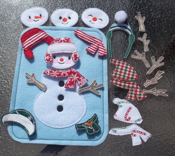 Snowman Busy Page Bag Build Decorate ADD-ON To Busy Book 4