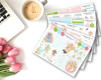 Spring Planner Sticker Kit for the Erin Condren LifePlanner ECLP Vertical MAMBI Happy Planner Weekly Kit Functional Decorative Stickers