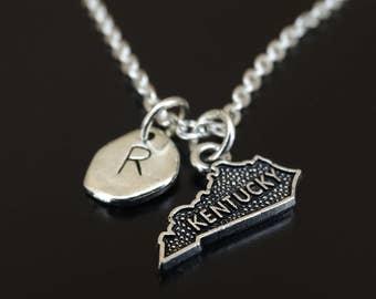 Kentucky Necklace, Kentucky Charm, Kentucky Pendant, Kentucky Jewelry, Kentucky State Necklace, Kentucky State Jewelry, Kentucky Map