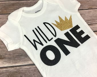 Wild One Onesie, Where The Wild Things Are Inspired Onesie, First Birthday, Children Apparel