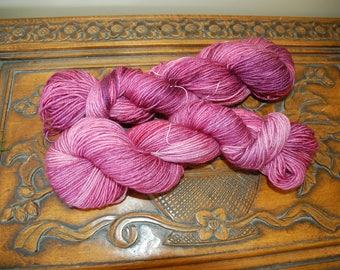 Sugar Plum-hand dyed BFL sock yarn
