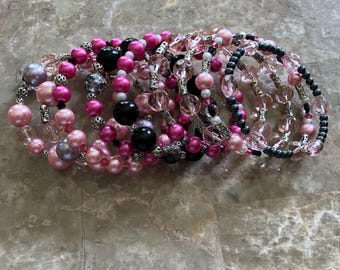 Very pink wrap bracelet