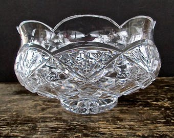 Sale Sparkling Clear Crystal Serving Bowl