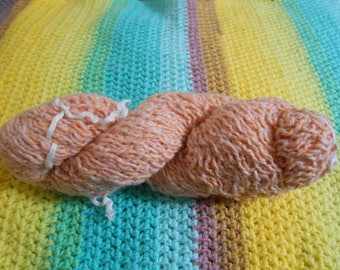 Peaches and Cream - Acrylic/Cotton/Wool/Mohair Blend - 712 yards - Worsted weight - Recycled, Reclaimed, Upcycled