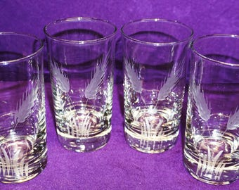 VINTAGE LIBBEY 9oz HIGHBALL Glasses, set of 4 c 1950's