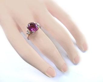Espo Amethyst Ring, 14 K GF, Size 6