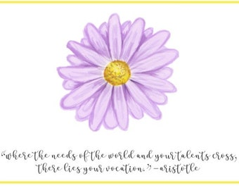 Purple Nurse Appreciation Daisy Card
