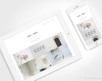 Minimal Blogger Template ⊡ Box No28 ⊳ Pre-made Responsive Blogger Theme with a Grid Layout and No Sidebar