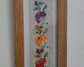 Panos for wall with hand embroidery