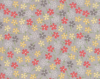 Lulu Lane Pansies fabric in Gray by Corey Yoder for Moda Fabrics #29023-21