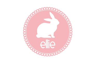 Personalized Easter Bunny Iron On Vinyl Decal