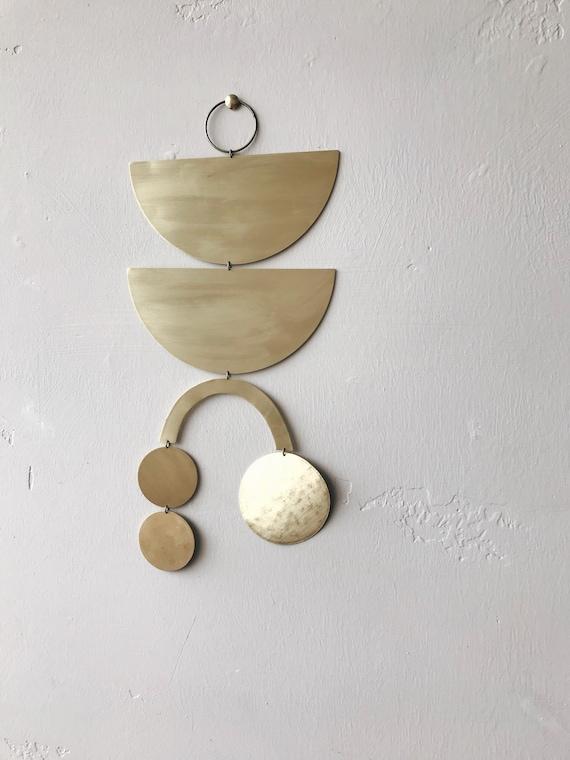 "Brass Wall Hanging - ""Roz"" - made-to-order - 3 week turnaround time"