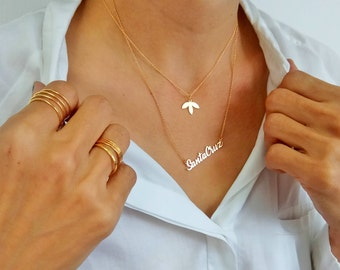 Gold Leaf Necklace, Gold Necklace, Simple Leaf Necklace, Fashion Jewelry, Dainty Gold Necklace, Natural Necklace, Handmade Jewelry
