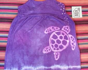 Batik Sea Turtle Purple size 4
