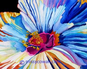 MORNING HIBISCUS - Original Watercolor Painting