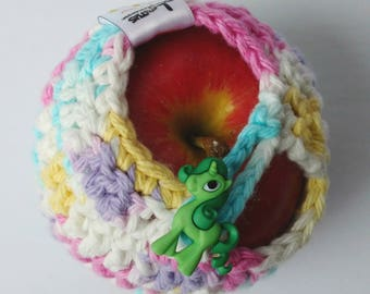 Apple cozy Fruit cozy Handmade Crochet - apple cosy - Lunch bag buddy-  Unicon - Ready to go