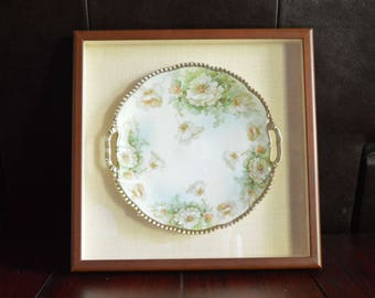 Prussia Royal Rudolstadt Plate in a Frame