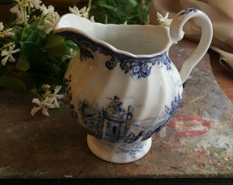 Johnson Brother blue and white creamer