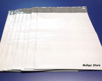 100 - Mailer 12x15 White Poly Mailing Plastic Envelopes Shipping Bags - 2.5 Mil Self Seal - Free Shipping!!!
