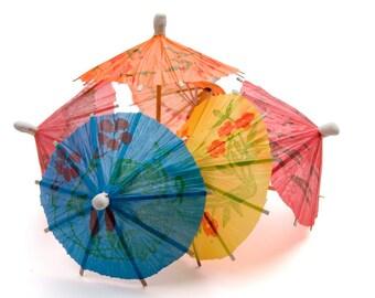 Cocktail Umbrellas, Assorted Colors