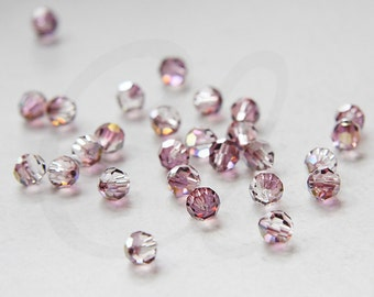 4 Pieces Swarovski 5000 Round Crystal - Lilac Shadow Crystal 6mm (SW938005)
