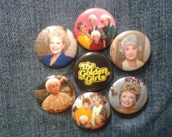 "The Golden Girls button set 1"" pinback Betty White"