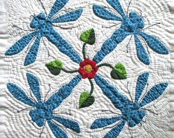 Dragonfly Quilt Block Pattern for Nature's Bounty Quilt