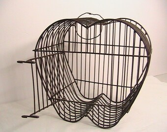 Apple Decor, Wire Apple Bird Cage, Vintage Bird Cage, Apple Shaped