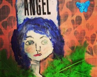 Mixed media angel