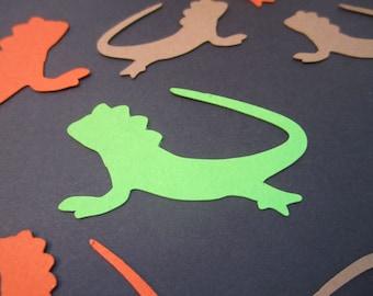 Iguana Lizard Confetti, Reptile Adventure Party Decor, Die Cut Kids Birthday Confetti, Scrapbook Card Making, Creature Theme