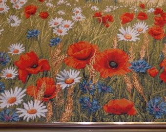 """Tapestry /Gobelin wall art, """"Blossoming field"""" framed"""