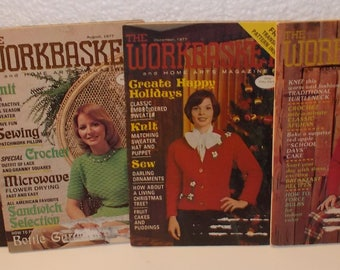 6 Issues Workbasket & Home Arts Magazine 1977