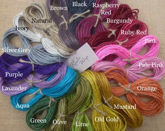 Coloured Natural Jute String Twine