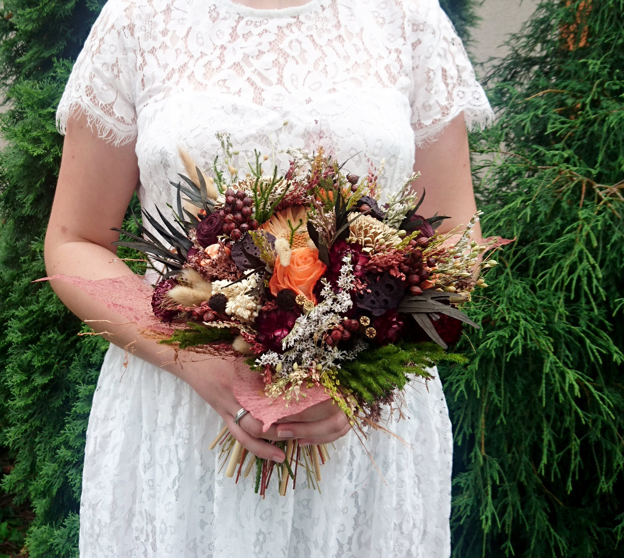 Fall sola flowers rose wedding bouquet chocolate brown bridal gallery photo gallery photo gallery photo gallery photo izmirmasajfo