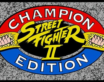 Street Fighter II Champion Edition Arcade Marquee Header/Backlit Sign