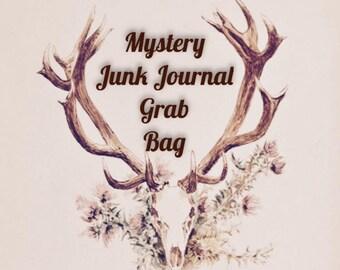 Large Junk Journal Mystery Inspiration Kit Grab Bag