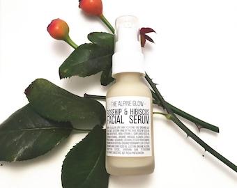 ROSEHIP SERUM - Niacinamide Serum - Rosehip Seed Oil - Moisturizing Facial Serum  - Vegan Skincare - Anti-Aging Serum - Vitamin C Serum