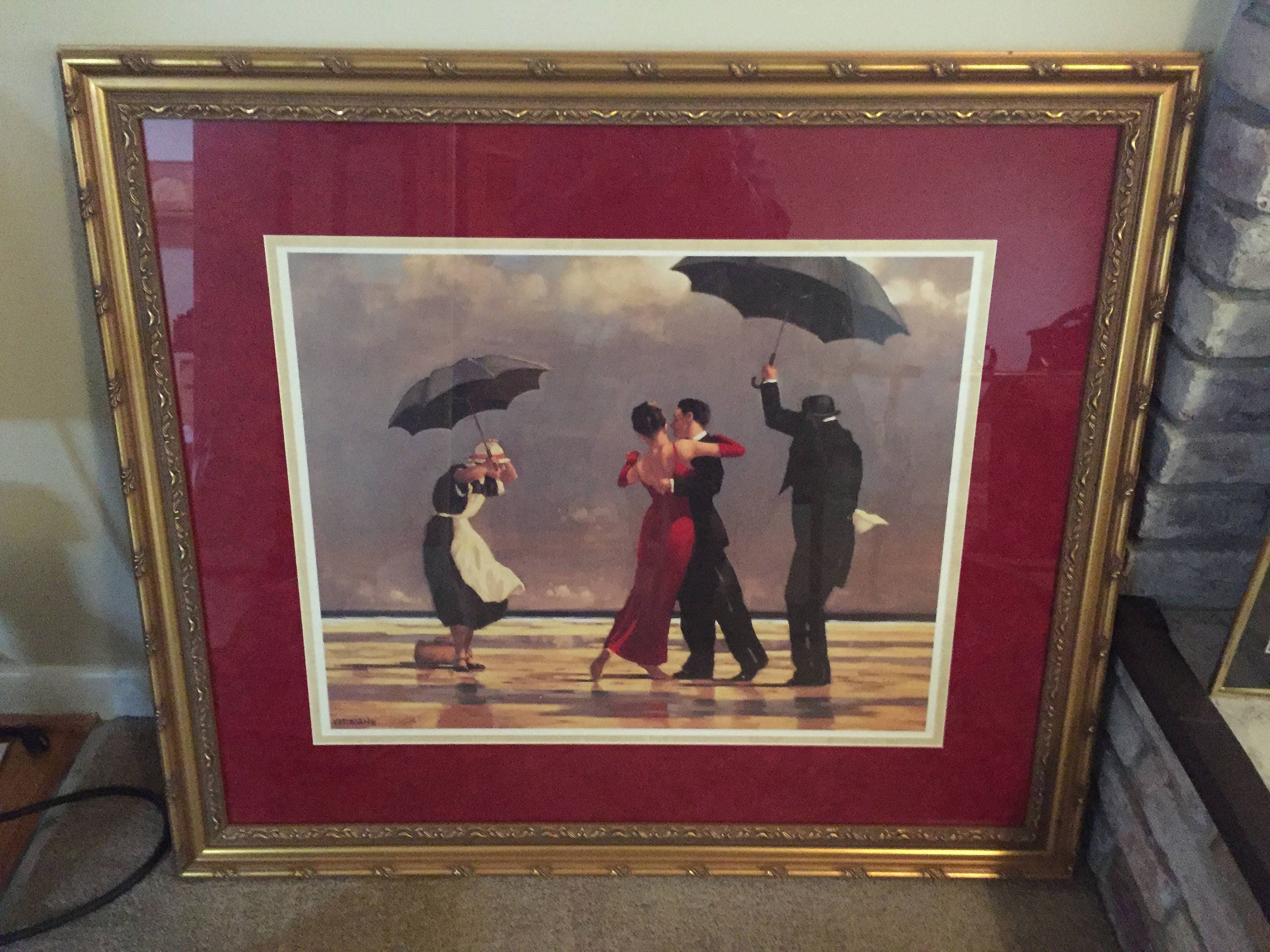 The Singing Butler by Jack Vettriano Framed Canvas Art
