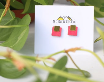 Retro square earring