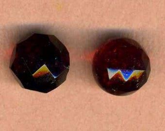 Antique Buttons 2 Cranberry Glass Balls