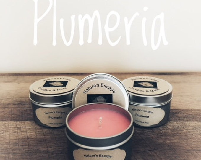 Plumeria Soy Wax 6 oz. Candle Tins