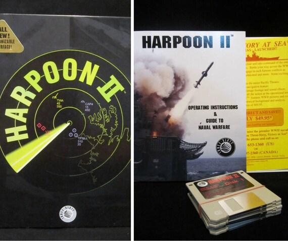 vintage computer game 1994 harpoon 2 big box complete rh etsy com World War II Siege of Malta Operation Compass